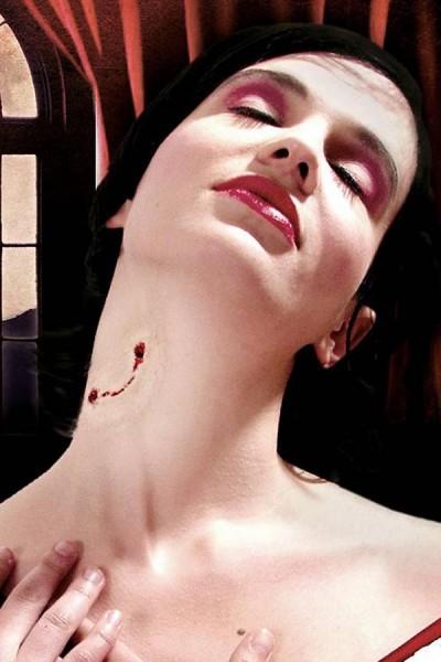 Vampirbiss Latexapplikation für LARP, Halloween und Fasching