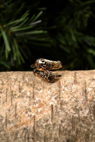 Wikinger Ring Oseberg aus Bronze