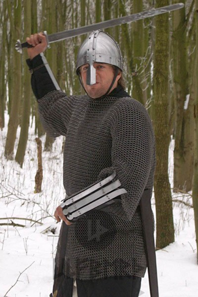 Mittelalter Kettenhemd Haubergon 8 mm Flachring - vernietet