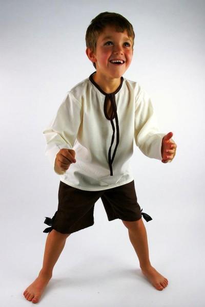 Mittelalter Hemd Knappe für Kinder