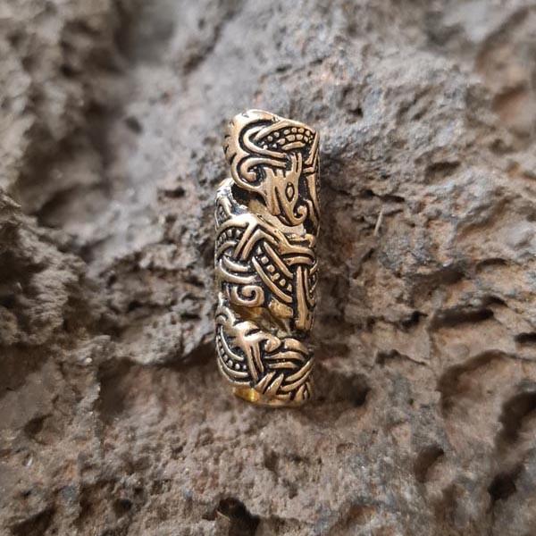 Wikinger Bartperle Thorleif im Mammen-Stil aus Bronze