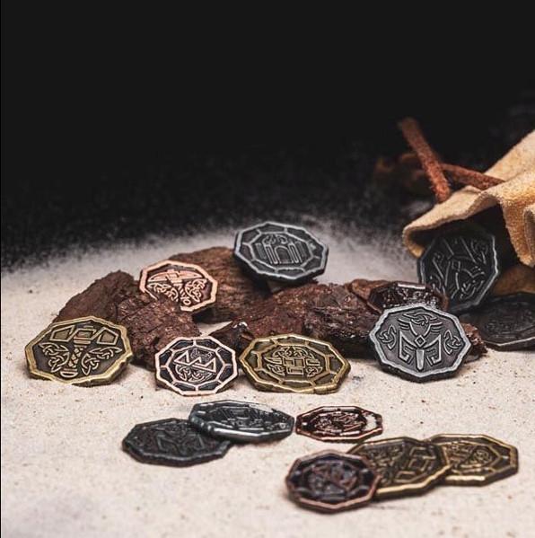 LARP Münzen Set Altzwergisch