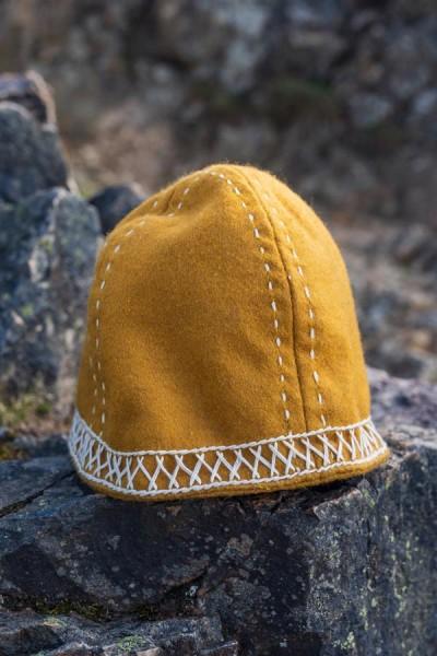 Wikingermütze mit Stickerei aus Wolle