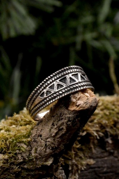 Wikinger Ring Snorre aus Silber