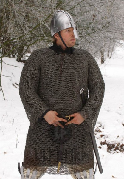 Mittelalter Kettenhemd Hauberk 8 mm Flachring - vernietet