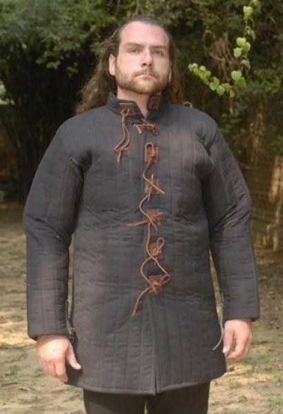 Mittelalter Gambeson Godfrey mit Ledernesteln