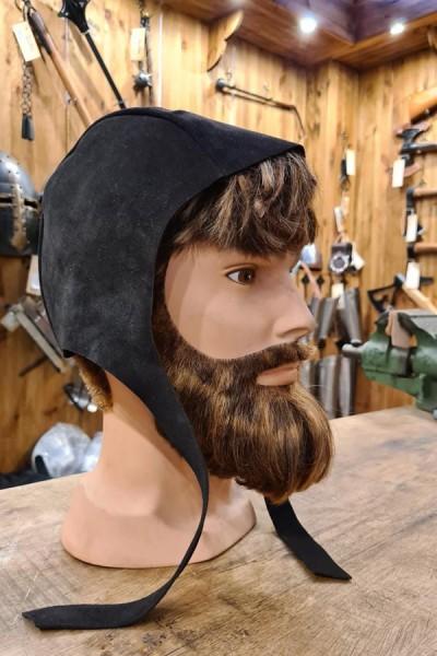 Mittelalter Bundhaube aus Leder