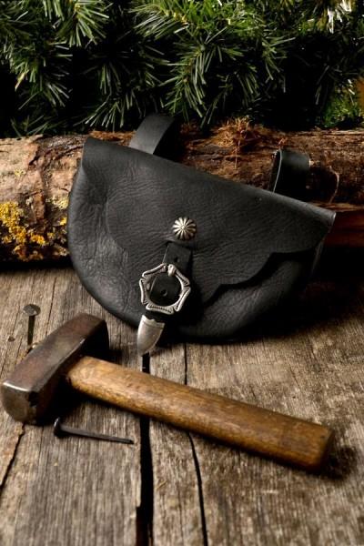 Hochmittelalter Gürteltasche Runneburg aus Leder