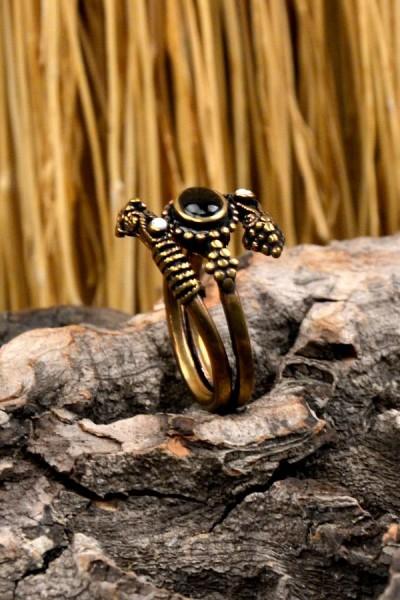 Mittelalter Ring Drachenklaue aus Bronze
