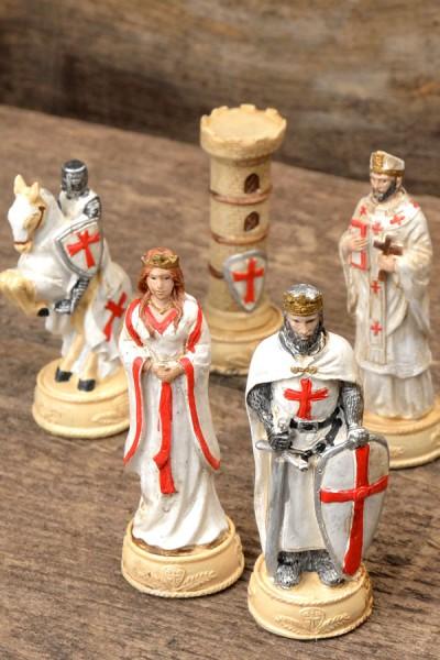 Mittelalter Schachfiguren Set Kreuzzug