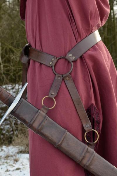 Mittelalter Schwertgürtel Krieger aus Leder