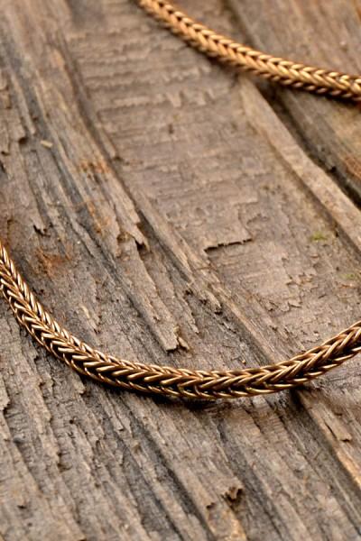 Wikinger Kette aus Bronze 65 cm