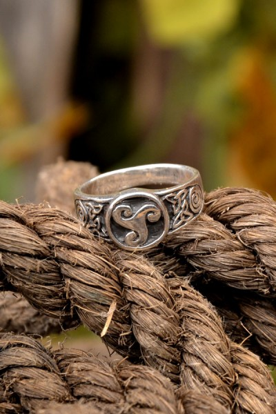 Kelten Siegelring Triskel aus Silber