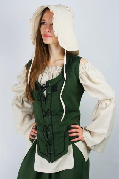 Mittelalter Bundhaube mit Rüschen