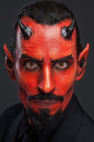 Teufel Profi Make-Up für LARP Halloween und Fasching