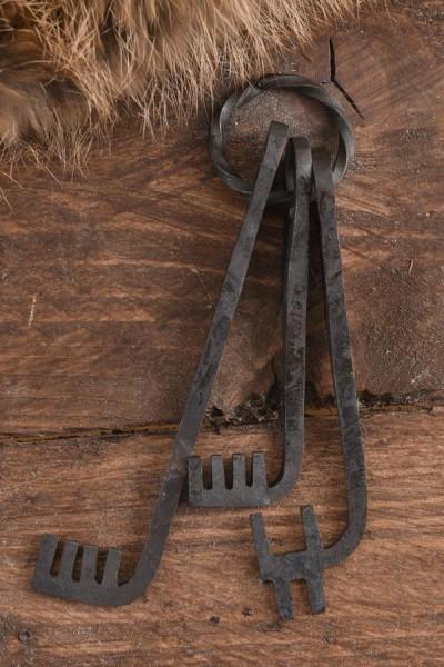 Mittelalter Schlüsselbund - handgeschmiedet