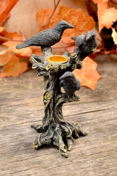 Fantasy Kerzenhalter Die Drei Raben
