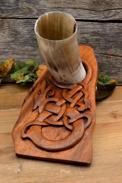 Wikinger Trinkhornständer Runenstein Drache