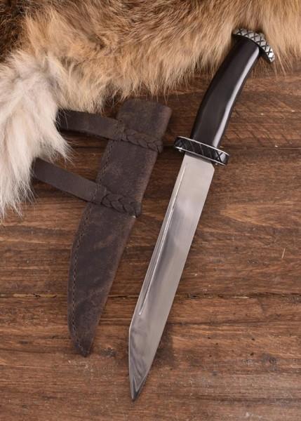 Wikinger Kurzsax mit Horngriff - Dekoration