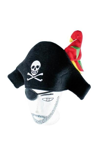Piratenhut mit Papagei für Kinder