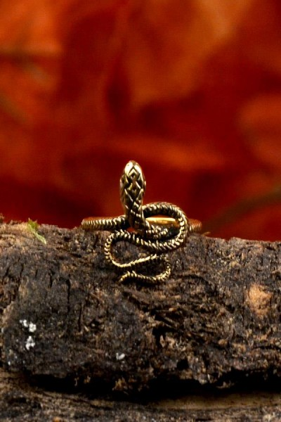 Mittelalter Schlangenring aus Bronze