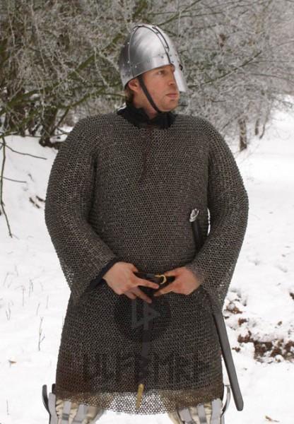 Mittelalter Kettenhemd Hauberk 8 mm Rundring - unvernietet