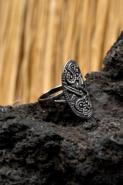 Wikinger Schutzring um Urnestil aus Silber
