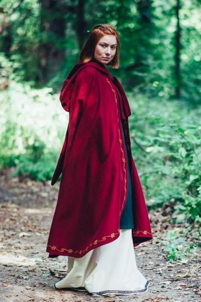 Mittelalter Umhang für Damen aus Wolle