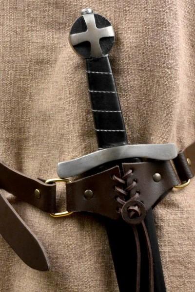 Mittelalter Schwertgürtel Kämpfer aus Leder