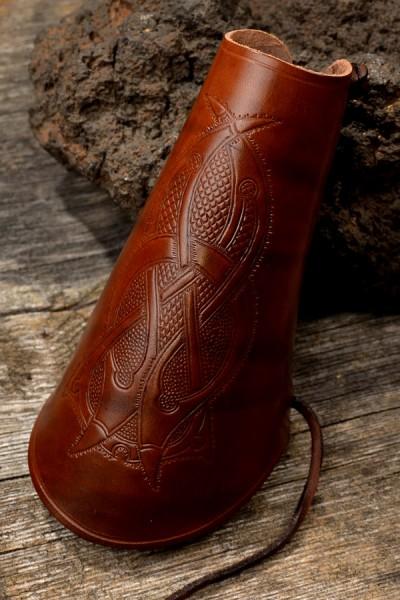Armschützer geprägt für Bogenschütze aus Leder