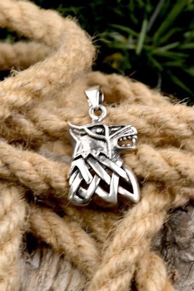 Wikinger Amulett Fenriswolf aus Silber