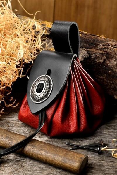Mittelalter Geldbeutel aus Leder