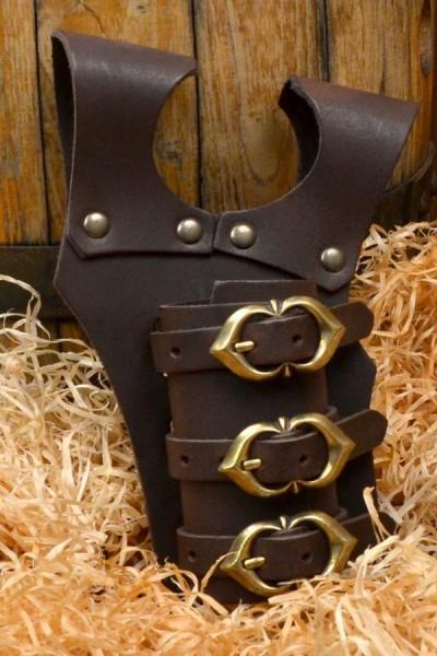 Mittelalter Schwerthalter mit Schnallen