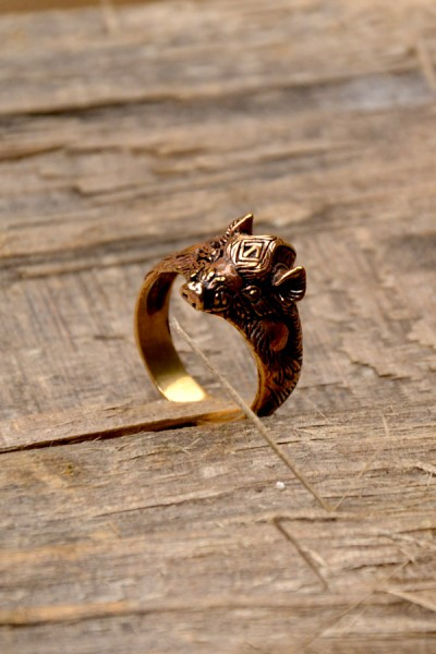 Wikinger Ring Gullinbursti aus Bronze