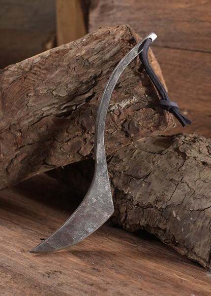 Mittelalter Kürschnermesser mit Lederscheide - handgeschmiedet