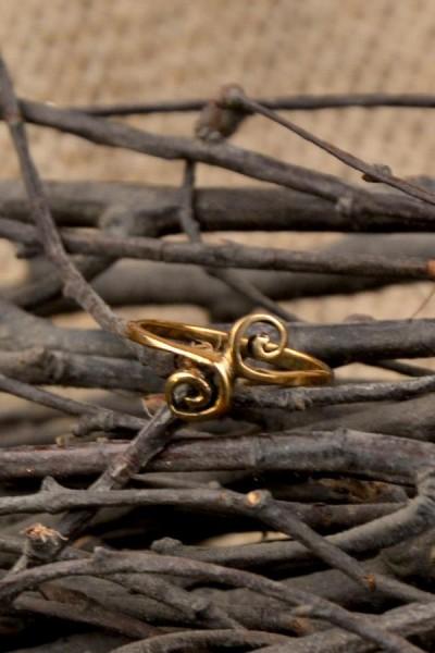 Mittelalter Ring Lebensspiralen aus Bronze