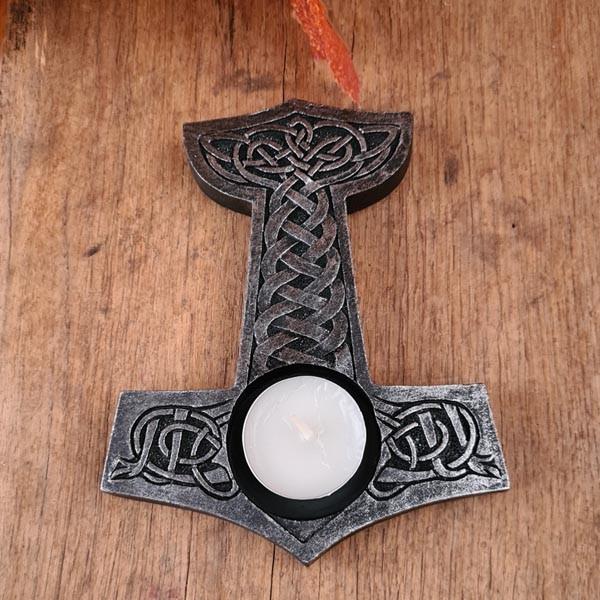 Teelichthalter Thors Hammer - Dekoration