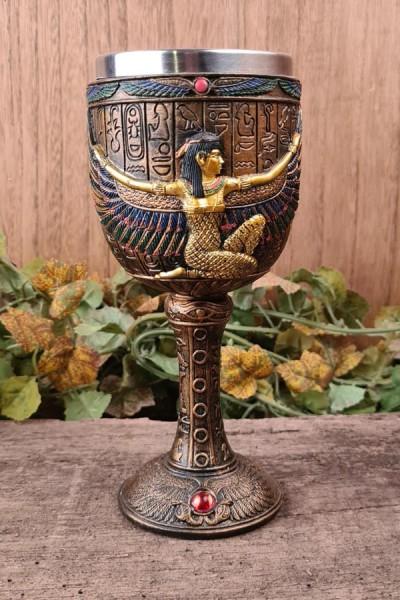 Ägyptische Kelch Isis - handbemalt