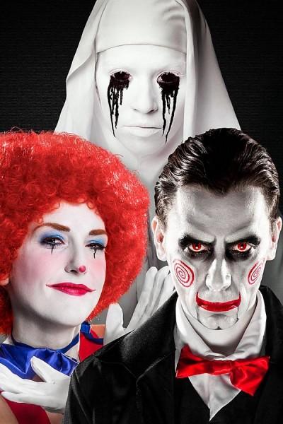 Weiß Profi Make-Up für LARP Fasching und Halloween
