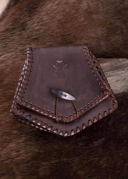 Keltische Gürteltasche mit Keltenkreuz aus Leder
