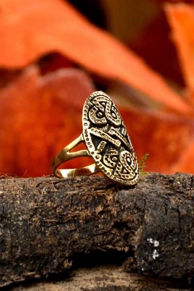 Wikinger Schutzring im Urnestil aus Bronze