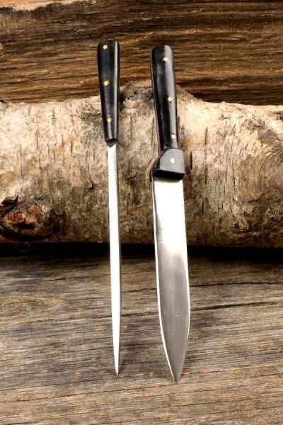 Mittelalter Tafelmesser mit Essdorn aus Edelstahl