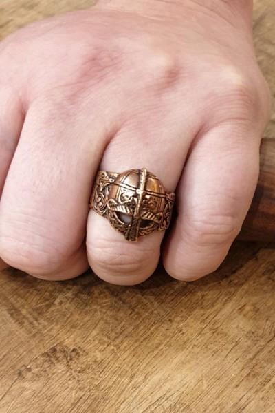 Wikinger Ring Valsgärde aus Bronze