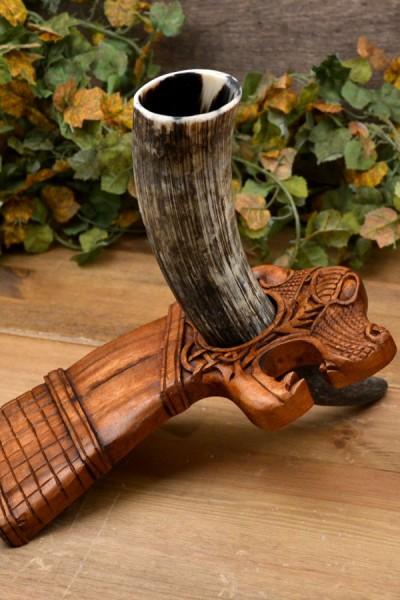 Wikinger Trinkhornständer Oseberg aus Holz