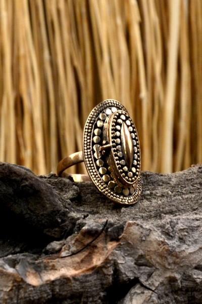 Mittelalter Giftring aus Bronze