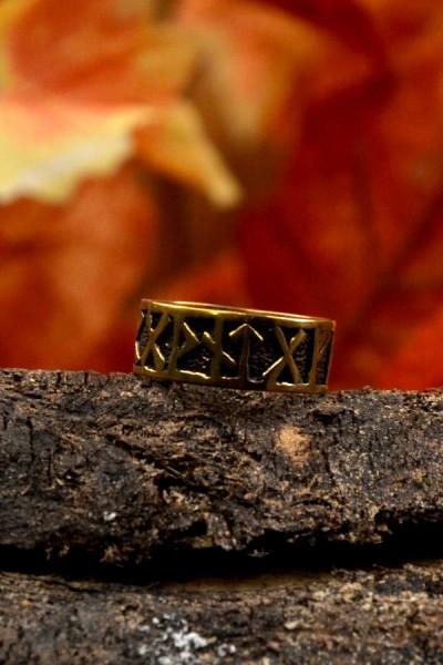 Wikinger Runenring aus Bronze