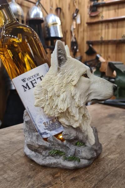 Flaschenhalter Wolfskopf Wächter des Nordens - handbemalt