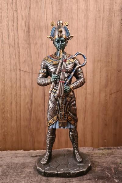 Osiris Ägyptischer Gott der Unterwelt - handbemalt