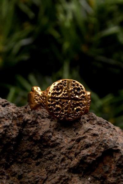 Wikinger Siegelring Halfdan aus Bronze