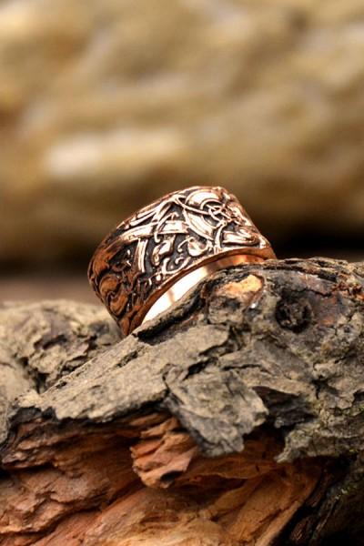 Wikinger Ring Jörmungandr aus Bronze